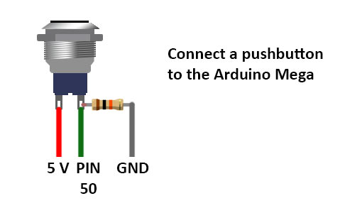 connect pushbutton arduino