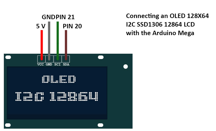 connect oled arduino